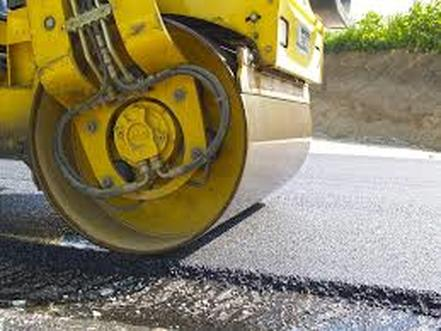 Closeup of Asphalt Roller